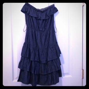 BOOM BOOM JEANS* off Shoulder denim dress size M
